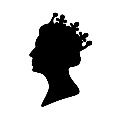 Queens Head Silhouette PSD
