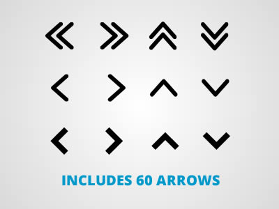 Free Arrow Icon Vector Graphic Pack