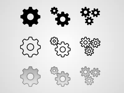 Free Cog Gear Icon PSD