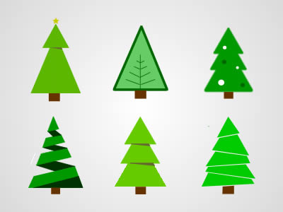 Free Colour Chirstmas Tree Vector Graphics