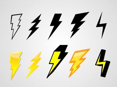Free Lightning Bolt Graphics Pack