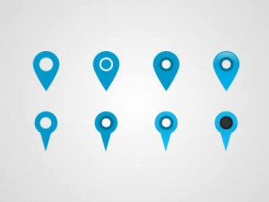 Free Map Marker Pin Icons PSD
