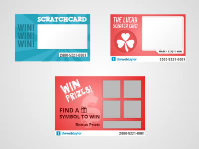 Free Scratch Card Vector Graphic Pack