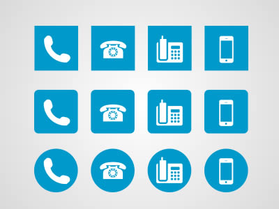 Phone Icon Megapack PSD