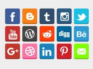free-flat-3d-social-buttons