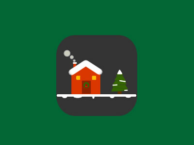 Free Christmas House PSD Graphic