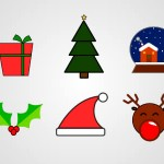 Free Christmas Icon Pack PSD