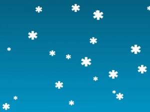 HTML5 JavaScript Christmas Snow Background