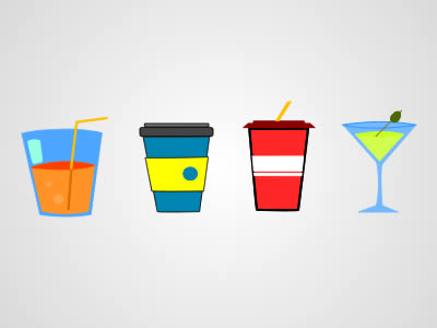 Free Drinks PSD Graphics