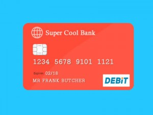 Free Debit Credit Card PSD Graphic