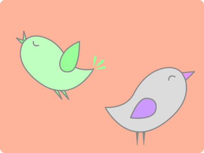 Free Spring Birds Graphics PSD