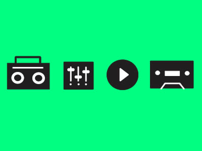 Free Music Controls Vector Icon Pack