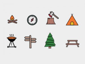Free Camping Vector Graphics Pack
