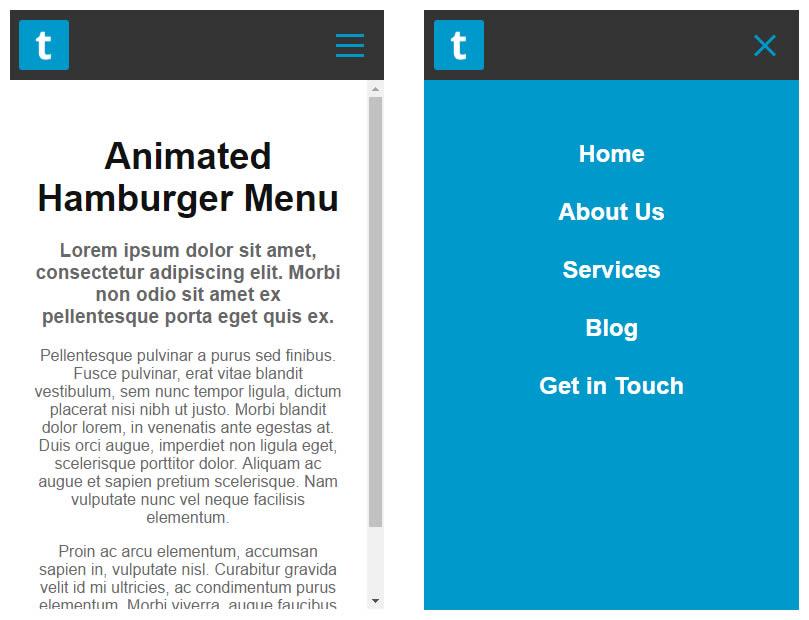 How To Make A Cool Animated Hamburger Mobile Menu Icon