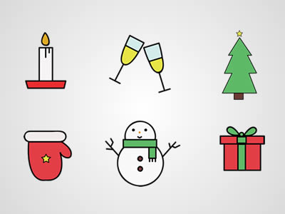 Free Christmas Vector Icon Graphics Pack 2017